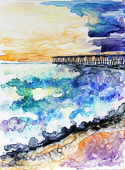California Pier at Sunset by Shaina Stinard