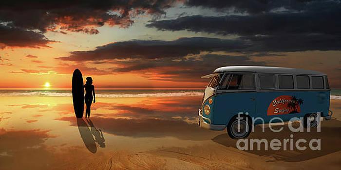 California Surfing by Monika Juengling