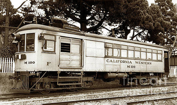 California Views Archives Mr Pat Hathaway Archives - California Western  M 100 gas railcar  Skunk Train  Circa 1930