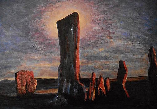 Callanish stand stones of Lewis Scotland  by Patricia Hovey