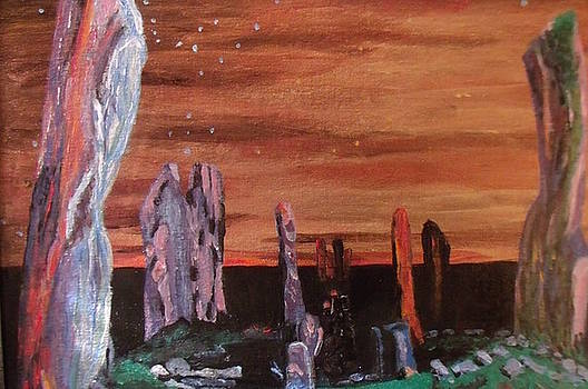 Callanish standing stones of Lewis Scotland 2 by Patricia Hovey