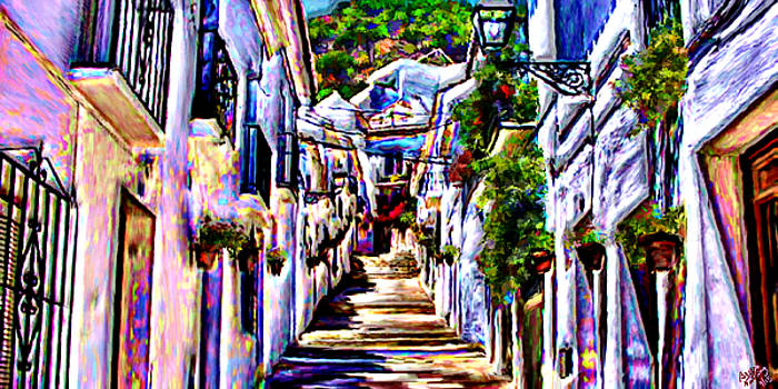Calle Tipica en Mijas by Bruce Nutting