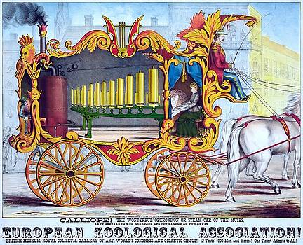 Calliope, the wonderful operonicon or steam car of the muses, advertising poster, 1874 by Vintage Printery