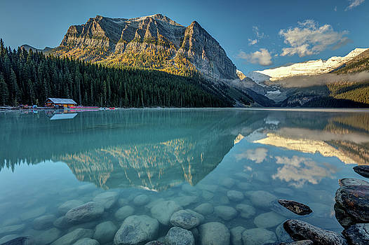 Calm and peaceful morning at Lake Louise by Pierre Leclerc Photography