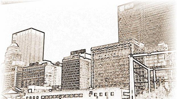 Calm Chicago Sketch by Jackie Bodnar