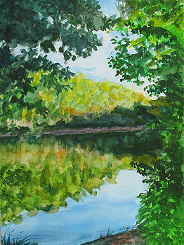 Calm Evening Lake View by Wes Loper