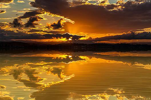 Calm Sunset by Barbara Dudzinska