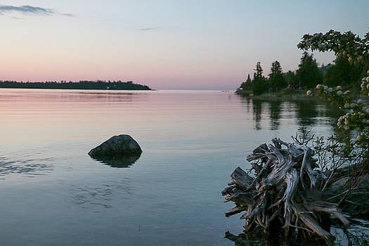 Calm Water at Lake Huron Crystal Point by Kelly Hazel