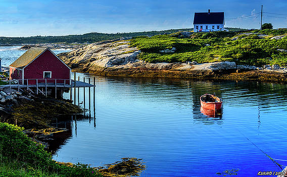 Calm Water at Peggys Cove #3 by Ken Morris