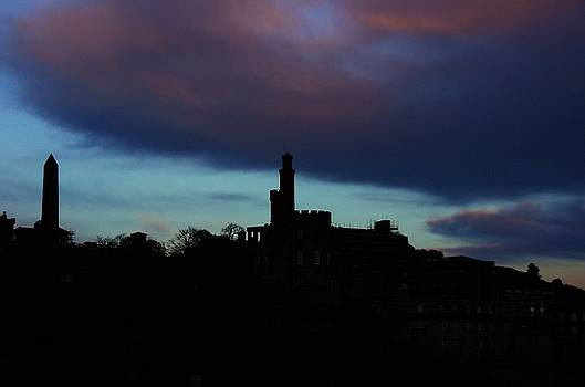Calton Hill Sky by Nik Watt