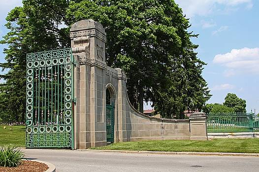 Calvary Cemetery Gate III by Michiale Schneider