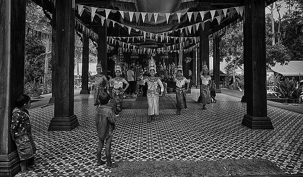 Cambodian Apsara Dancers by David Longstreath