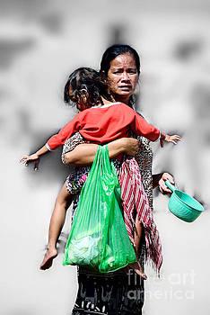 Cambodian beggar lady by Mirko Dabic