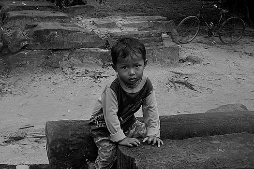 Cambodian Child by Miranda  Miranda