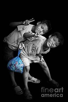 Cambodian kids  by Mirko Dabic