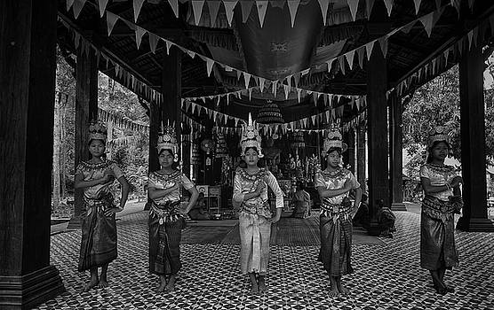 Cambodian Temple Dancers by David Longstreath