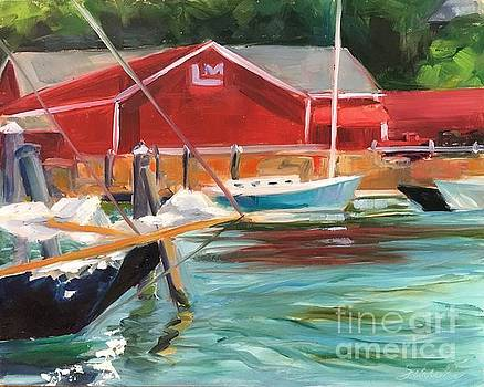 Camden Harbor and Marina by Lynne Schulte