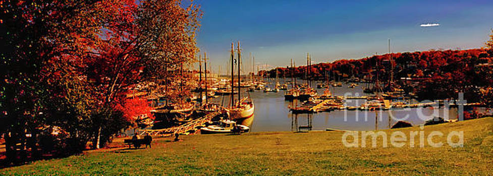 Camden Harbor Maine fall afternoon by Tom Jelen