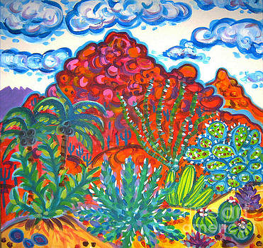 Camelback Mountain Cactus Garden by Rachel Houseman