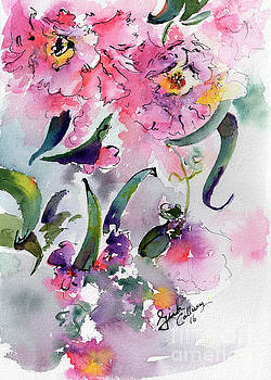 Ginette Callaway - Camellia Alabama State Flower Watercolor
