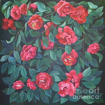 Camellias,Lips and Berries by Tatyana Binovska