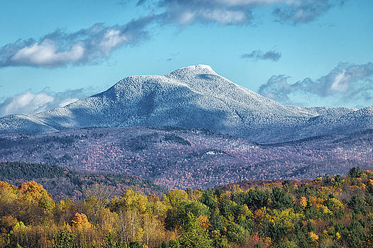 Camels Hump Snowliage  by Dave Schmidt