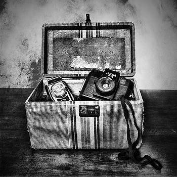 Sharon Popek - Camera Bag Black and White