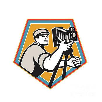 Cameraman Vintage Movie Film Camera Crest Retro by Aloysius Patrimonio