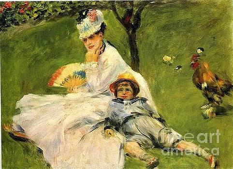 Renoir - Camille Monet and Her Son In the Garden