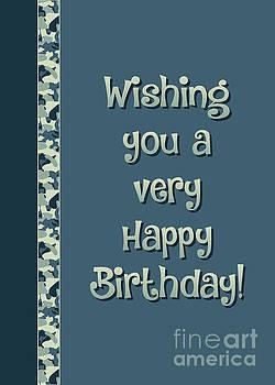 JH Designs - Camo Very Happy Birthday