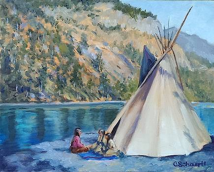 Camp by the Lake by Connie Schaertl