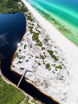 Camp Creek Lake On The Gulf Aerial by Kurt Lischka