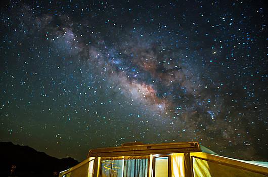 Camp Milky Way 2 by Bob Marquis