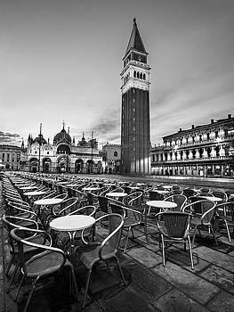 Campanile and Basilica San Marco at Dawn - Venice by Barry O Carroll