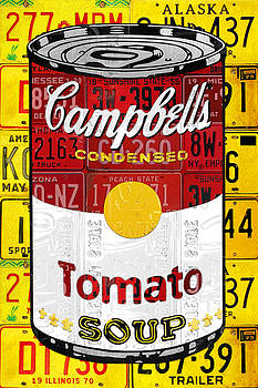 Campbells Tomato Soup Can Recycled License Plate Art by Design Turnpike