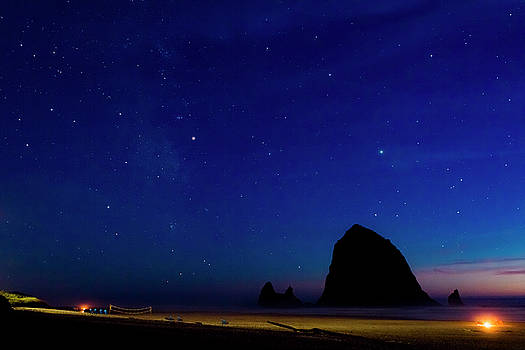 Campfire and Starry Night by Sharon Joubert