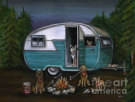 Camping in the Shasta by Kim Arre-gerber