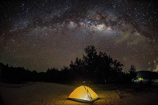 Camping under million stars by Pradeep Raja PRINTS