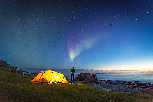 Camping under the Northern Lights by Alex Conu