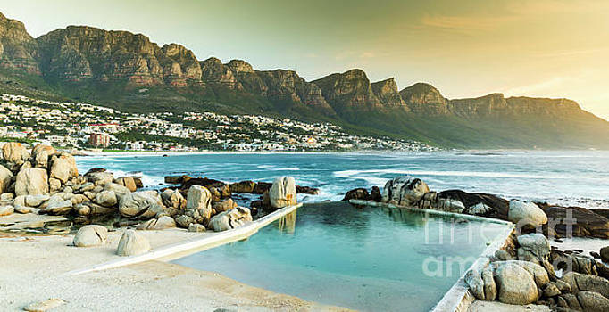 Camps Bay At Dusk by Tim Hester