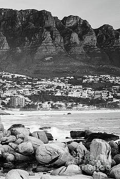 Tim Hester - Camps Bay At Sunset Black And White