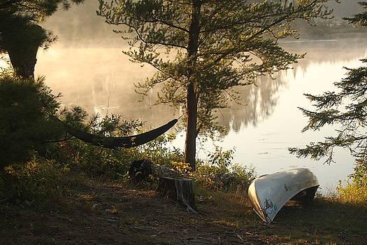 Campsite on Lake Four by Francoise Villibord Pointeau