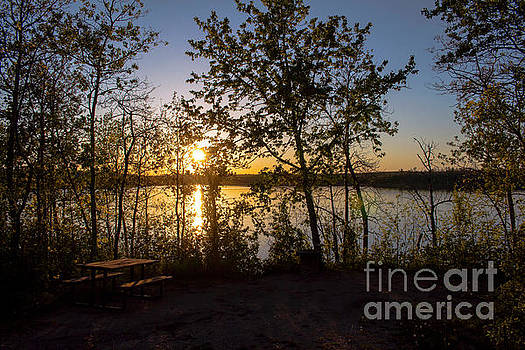 Campsite Sunset by Francis Lavigne-Theriault