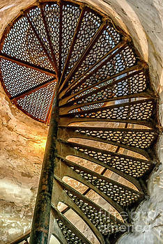 Cana Island Lighthouse Staircase by Thomas R Fletcher