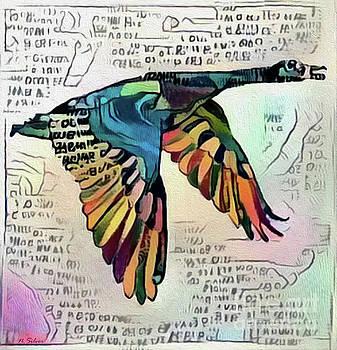 Canada Goose A Modern Hieroglyph by Nina Silver