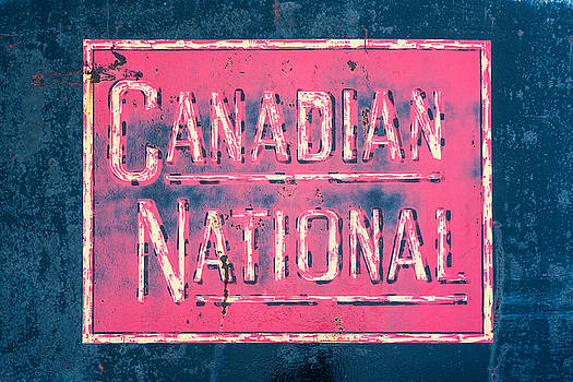 Canadian National Railroad Rail Car Signage by Jeff Abrahamson