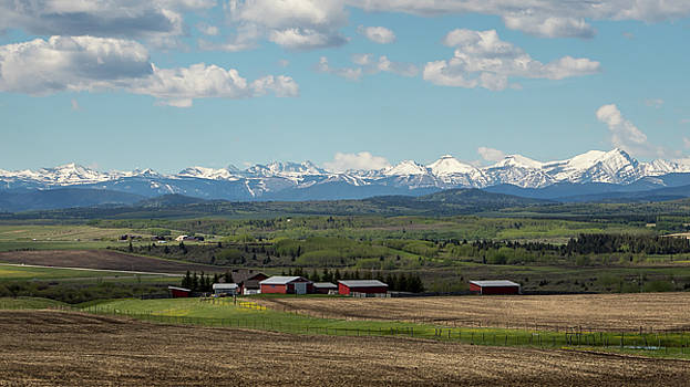 Canadian Rockies in the Distance by M C Hood