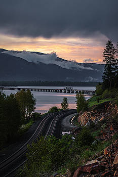 Canadian Sunset from Sandpoint by Albert Seger