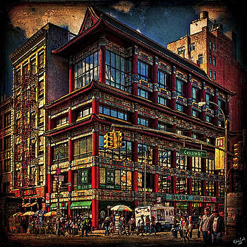 Canal and Center Streets New York City by Chris Lord