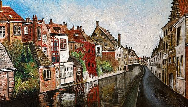 Canal in Bruges by Vladimir Kezerashvili